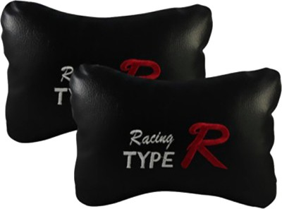 AutoKraftZ Black Leatherite Car Pillow Cushion for Hyundai(Rectangular, Pack of 2)