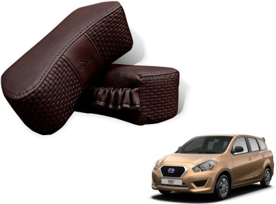 Auto Pearl Brown Leatherite Car Pillow Cushion for Datsun