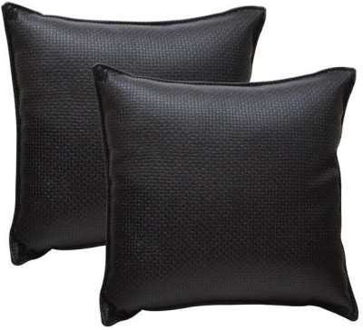 Challenger Black Leatherite Car Pillow Cushion for Universal For Car