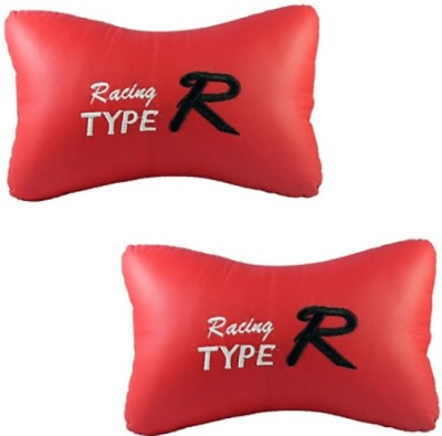 XV Red Leatherite Car Pillow Cushion for Universal For Car
