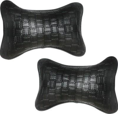 Vheelocityin Black Leatherite Car Pillow Cushion for Nissan