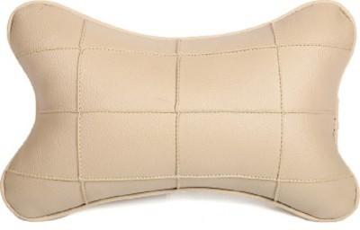 Retina Beige Leatherite Car Pillow Cushion for Maruti Suzuki, Toyota