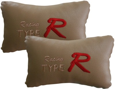 Type R Beige Leatherite Car Pillow Cushion for Universal For Car