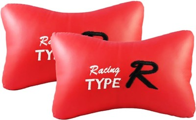 AutoCarWinner Red Leatherite Car Pillow Cushion for Universal For Car
