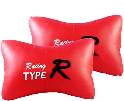 AutoKraftZ Red Leatherite Car Pillow Cushion for Maruti Suzuki(Rectangular, Pack of 2)