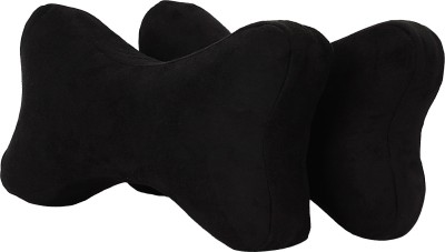Magasin Black Fabric Car Pillow Cushion for Opel(Contemporary, Pack of 2)