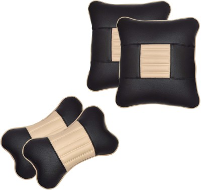 Challenger Multicolor Leatherite Car Pillow Cushion for Universal For Car