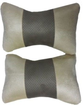 Retina Beige, Brown Leather Car Pillow Cushion for Maruti Suzuki