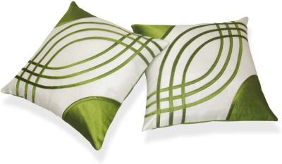 Zikrak Exim Green, White Polyester Car Pillow Cushion for Universal For Car