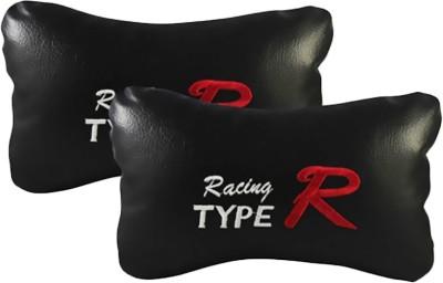 AutoCarWinner Black Leatherite Car Pillow Cushion for Universal For Car