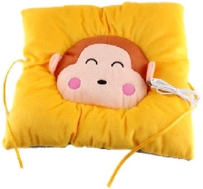 Palakz Yellow Cotton Car Pillow Cushion for Universal For Car