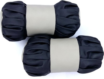 AutoSun Black, Beige Leather Car Pillow Cushion for Universal For Car