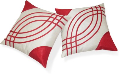 Zikrak Exim Red, White Polyester Car Pillow Cushion for Universal For Car