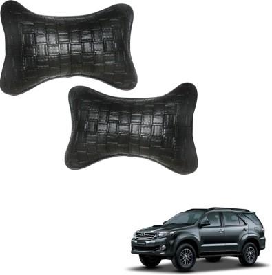 Vheelocityin Black Leatherite Car Pillow Cushion for Toyota