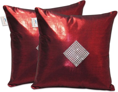 Zikrak Exim Maroon Polyester Car Pillow Cushion for Universal For Car