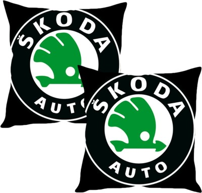 Sleepnature's Black, Green Silk Car Pillow Cushion for Skoda