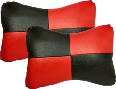 Retina Red, Black Velvet Car Pillow Cushion for Universal For Car(Rectangular, Pack of 2)
