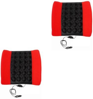 Speedwav Red, Black Cotton Car Pillow Cushion for Universal For Car