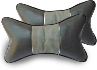 HMC Grey Leatherite Car Pillow Cushion for Universal For Car