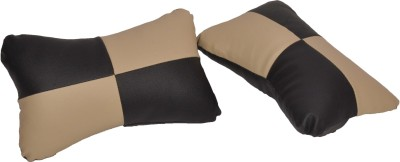 Canabee Black, Beige Cotton Car Pillow Cushion for Universal For Car