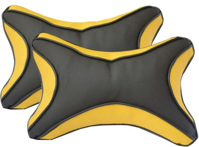 HMC Black Leatherite Car Pillow Cushion for HM