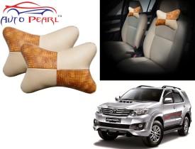 Auto Pearl Brown Beige Chess Premium Make Designer Car Neck For - Toyota Fortuner Cushion