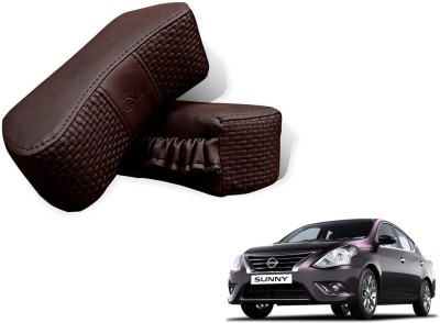 Auto Pearl Brown Leatherite Car Pillow Cushion for Nissan