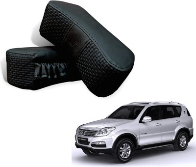 Kozdiko Black Fabric Car Pillow Cushion for Mahindra