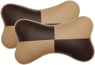 Challenger Beige, Brown Leatherite Car Pillow Cushion for Universal For Car