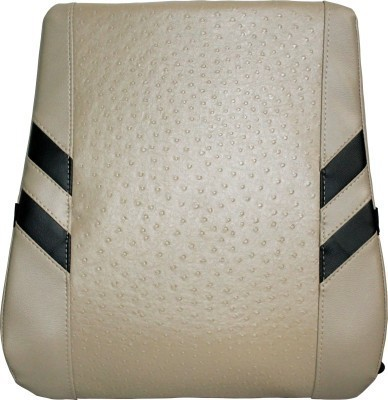 Kozdiko Beige Leatherite Car Pillow Cushion for Universal For Car