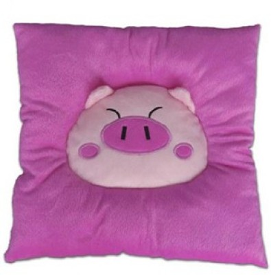Palakz Pink Cotton Car Pillow Cushion for Universal For Car