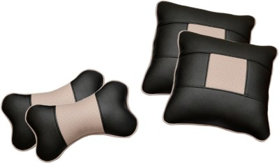 Challenger Black, Pink Leatherite Car Pillow Cushion for Universal For Car
