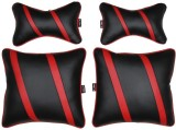 AbleAuto Red Leatherite Car Pillow Cushi...