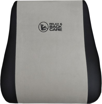 Challenger Black, Grey Leatherite, Fabric Car Pillow Cushion for Universal For Car