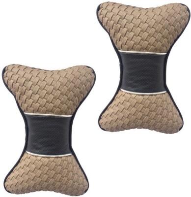 Digitru Multicolor Leatherite Car Pillow Cushion for Universal For Car