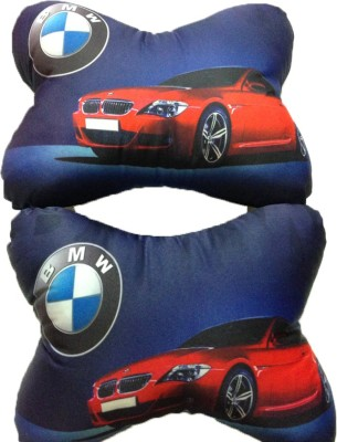Merchant Eshop Blue Cotton Car Pillow Cushion for BMW