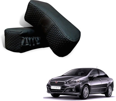 Kozdiko Black Fabric Car Pillow Cushion for Fiat