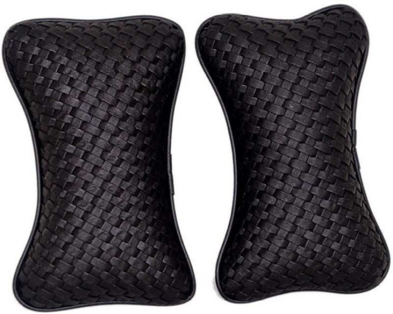 CarReflection Black Fabric Car Pillow Cushion for Maruti Suzuki(Rectangular)