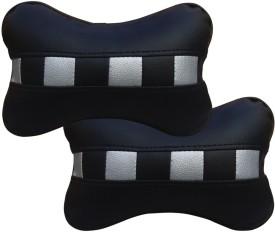 Auto Pearl Black, White Leatherite Car Pillow Cushion for Chevrolet
