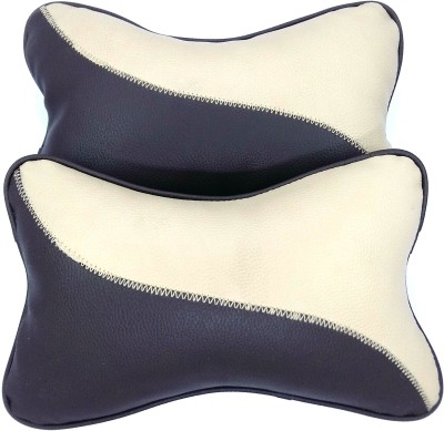 AutoSun Beige Fabric Car Pillow Cushion for Universal For Car