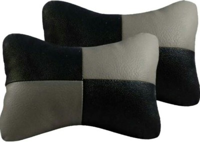 ElectriBles Black, Grey Leatherite Car Pillow Cushion for Nissan