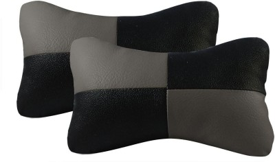 Autofurnish Grey, Black Fabric Car Pillow Cushion for Universal For Car(Contemporary, Pack of 2)