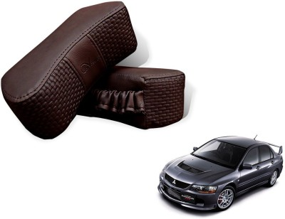 Auto Pearl Brown Leatherite Car Pillow Cushion for Mitsubishi