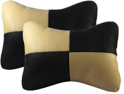 Gking Beige, Black Leather Car Pillow Cushion for Universal For Car