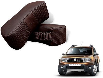 Auto Pearl Brown Leatherite Car Pillow Cushion for Renault