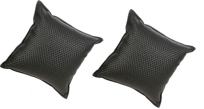 Millionaro Black Leatherite Car Pillow Cushion for Maruti Suzuki(Square, Pack of 2)