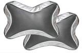 AutoSun Black, Silver Fabric Car Pillow ...