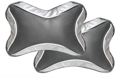 AutoSun Black, Silver Fabric Car Pillow Cushion for Universal For Car