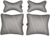 AbleAuto Grey Leatherite Car Pillow Cush...