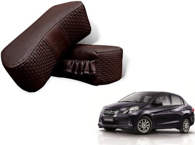 Auto Pearl Brown Leatherite Car Pillow Cushion for Honda